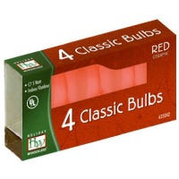 Christmas Lights Replacement Bulb, C7, Red Ceramic, 4-Pk.
