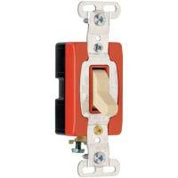 Toggle Switch, SP, Grounding, Ivory, 120/277-Volt, 20-Amp