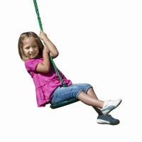 Shooting Star Disc Swing, Green With Rope, Holds 115-Lbs.