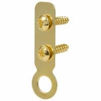 Picture Hanger, Flat Ring, Brass, Large, 4-Pk.