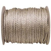 Unmanilla Rope, Twisted Polypropylene, Brown, 1/4-In. x 1200-Ft.