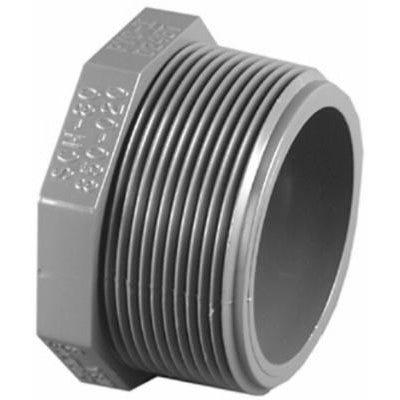 Schedule 80 PVC MPT Plug, 1-In.