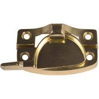 Window Sash Lock, Contemporary, Bright Brass Finish