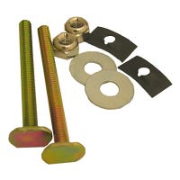 Solid Brass Toilet Bolts With Nuts And Washers, 0.25 x 2.5-In.