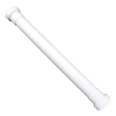 Lavatory/Kitchen Drain Extension Tube, White PVC, 16-In.