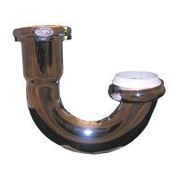 Kitchen Sink J-Bend, 17 Gauge,  Brass Plated, 1-1/2-In.