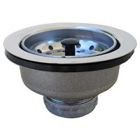Kitchen Sink Strainer, Stainless Steel, Chrome Plated Finish