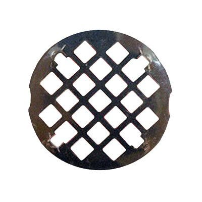 Shower Drain Grate, 3-1/4-In. Snap In Style, Chrome Plated