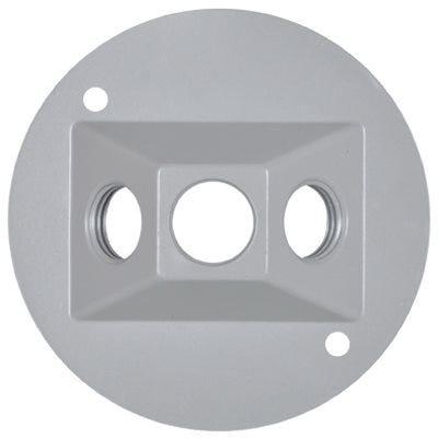 Weatherproof Round Lampholder Cover, Gray