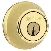Security Mobile Home Single-Cylinder Deadbolt, Polished Brass
