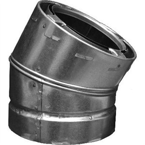 Image of Chimney Offset Elbow, Galvanized, 30-Degree, 6-In.