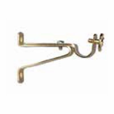 Image of Cafe Rod Bracket, Brass, 9/16-In., One Pair