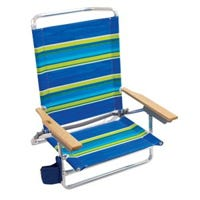 Sand Chair, 5-Position, Wood Arms, Assorted Colors