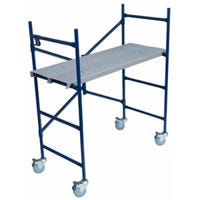 Steel Ladder/Mini Fortress Mobile Work Stand, 500-Lb. Duty Rating, 4-Ft.