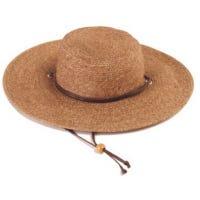 Wide Brim Braided Hat - Dark Brown