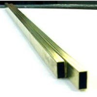 Rectangular Brass Tube, 1/8 x 1/4 x 12-In.