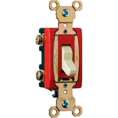 Premium Toggle Switch, SP, Grounding, Almond, 120/277-Volt, 20-Amp