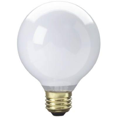 Vanity Globe Light Bulb, White, 25-Watts