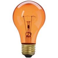 Amber Party Light Bulb, Transparent, 25-Watts