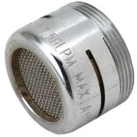 Faucet Aerator, Low Flow, Chrome-Plated Brass, Dual Thread, 15/16 & 55/64-In. x 27-Thread