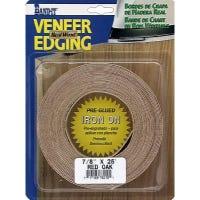 Red Oak Real Wood Veneer Iron-on Edgebanding, 7/8-Inch x 25-Ft.