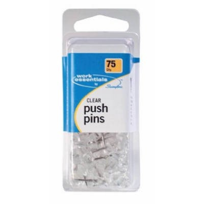 Image of Clear Push Pin, 75-Ct.