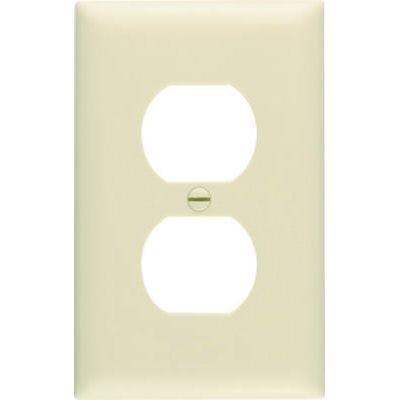 Ivory 1-Duplex Oversize Wall Plate