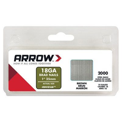 2000-Pack 1-Inch Brown Brad Nails