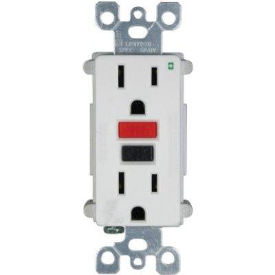 Image of SmartLock GFCI Duplex Outlet, Commercial Grade, White, 125-Volt, 15-Amp