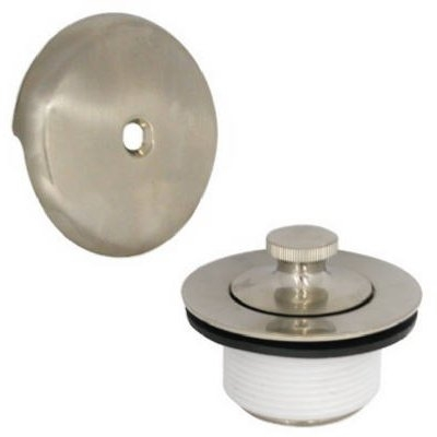 Image of Bath Drain Kit With Lift & Turn Stopper, Brushed Nickel
