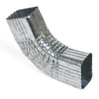 Side Gutter Elbow, Style B, 75 Degree, Mill Finish Galvanized Steel, 2 x 3-In.