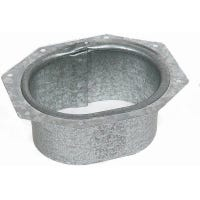 Gutter Drop Outlet, Galvanized, 2 x 3-In.