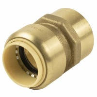 Pipe Fitting, Push On Adapter, 1-In. Copper x Female
