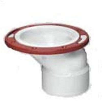 PVC Pipe Offset Closet Flange, 3 to 4-In.