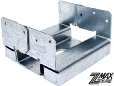 Image of Adjustable Post Base Z-Max, 1-In. Standoff Ht., 16-Gauge Steel, 6 x 6-In.