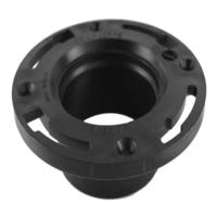 Closet Pipe Flange Hub End, ABS/DWV, 4 x 3-In.