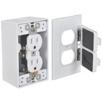 White Duplex Outlet Kit