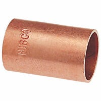 Wrot Copper Coupling Without Stop, 1-In.