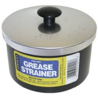 Grease Strainer Cup & Lid, Aluminum, 40-oz.