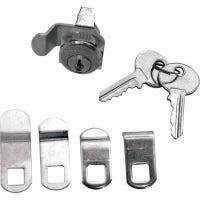 Mailbox Replacement Lock Assortment With 5 Cams & 2 Keys, Nickel Finish