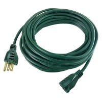 Extension Cord, 16/3, Green Vinyl, 40-Ft.