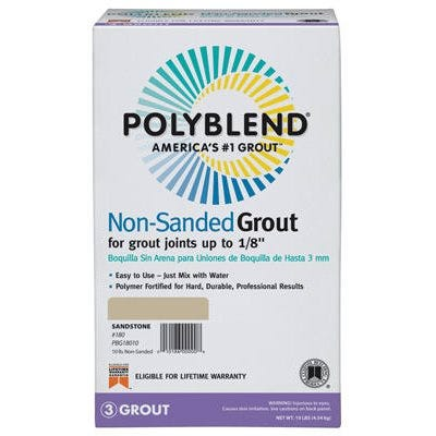 10-Lb. Sandstone Polyblend Non-Sanded Grout
