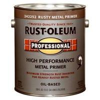 Professional Flat Metal Primer, Rusty, 1-Gallon