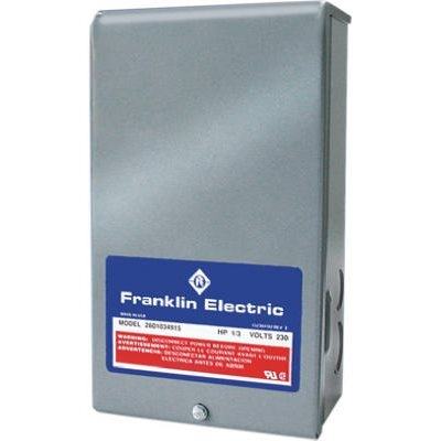 Image of Franklin Control Box For 3-Wire Water Pumps, 1-HP Motor, 230-Volt