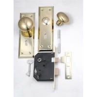 Brass Cabinet Knob/ Mortise Lock