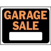 """Garage Sale"" Sign, Plastic, 9 x 12-In."