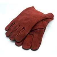 Welding Gloves, Lined Rust-Colored