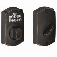 Aged Bronze Keypad Deadbolt Lock