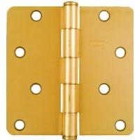 4 x 4-In. Dull Brass Residential Door Hinge