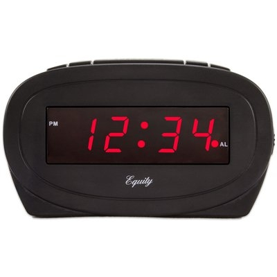 Image of Alarm Clock, Black, 0.6-In. Red LED Display